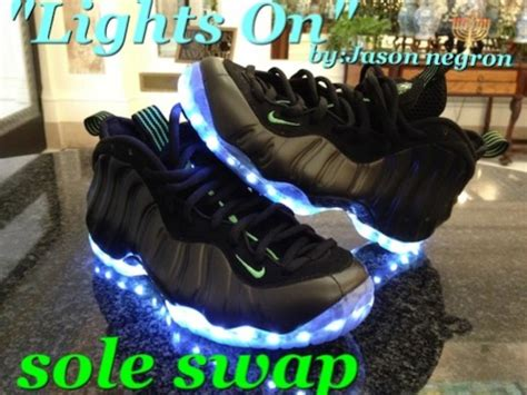 nike shoes with light up soles et6nation epicteam6 light up nike air foosite custom