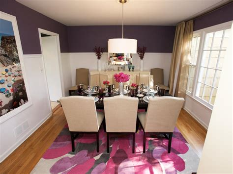 purple dining room the high low project hgtv