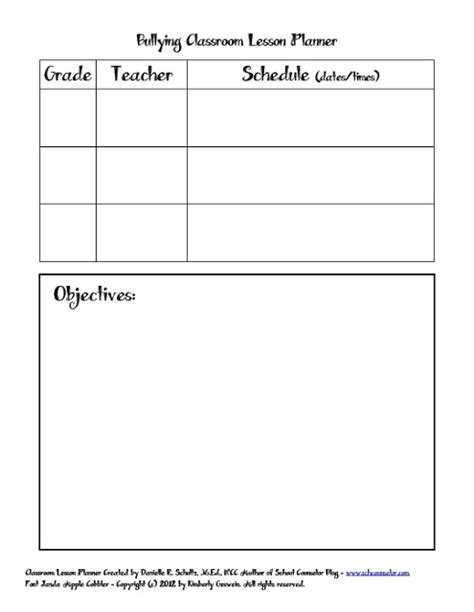 school counselor blog bullying classroom lesson planner