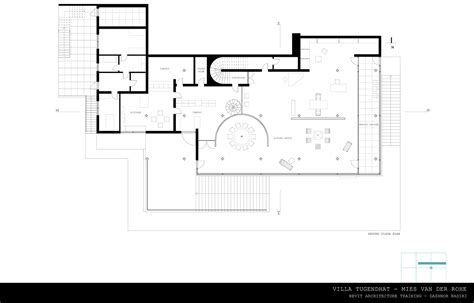 villa tugendhat floor plan revit training villa tugendhat on behance