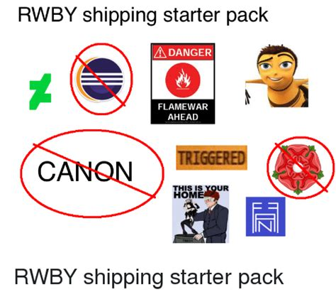 Blueprint Canon Starter Pack 25 best memes about rwby shipping rwby shipping memes