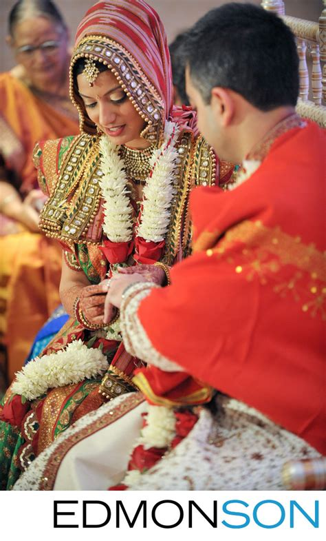 Wedding Ceremony Ring Exchange by Indian Wedding In Houston Ceremony Ring Exchange
