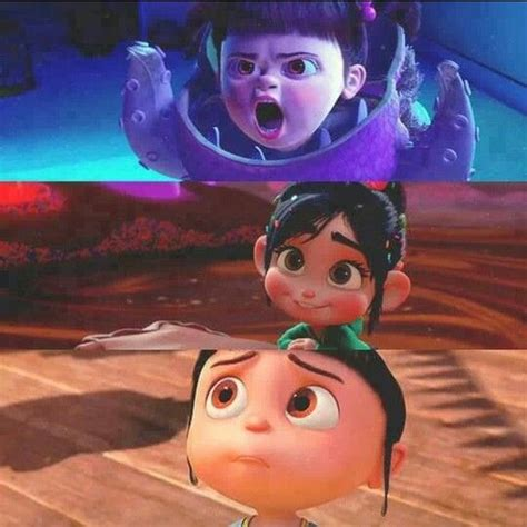 film cartoon girl boo vanellope and agnes adorbs disney characters