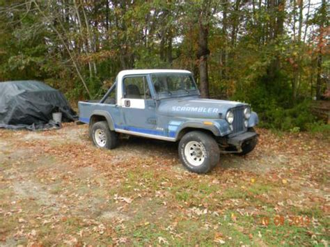 jeep scrambler blue buy used 1983 jeep cj 8 scrambler very cool project check