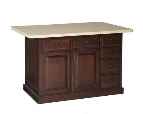 amish lexington kitchen island with one drawer and two doors american made kitchen island