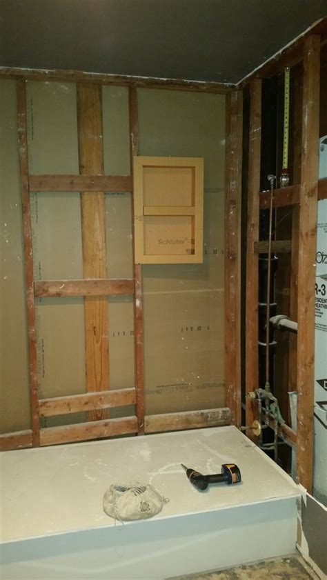 where to place tub shower niche right size niche tile