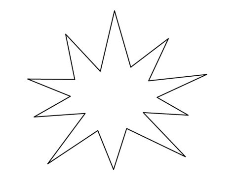 starburst card template starburst pattern use the printable outline for crafts
