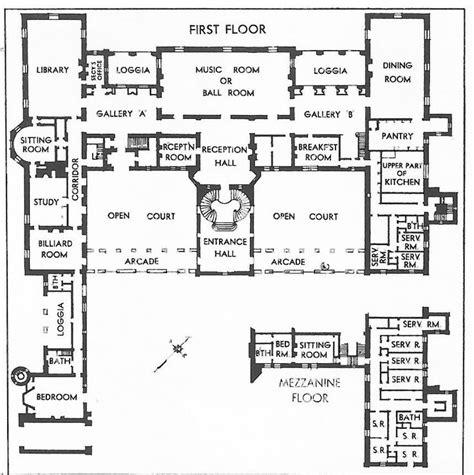 oheka castle floor plan oheka 1st floor and mezzanine georgian regency era
