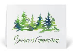 rustic watercolor trees holiday card 4607 harrison