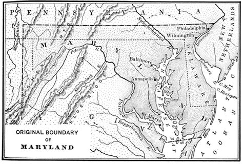 maryland map colony colonial maryland
