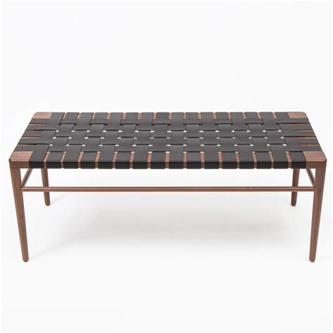 woven bench wlb woven leather bench mel smilow smilow furniture