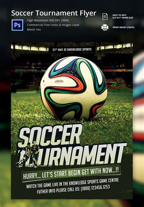 football tournament flyer template image gallery soccer flyer