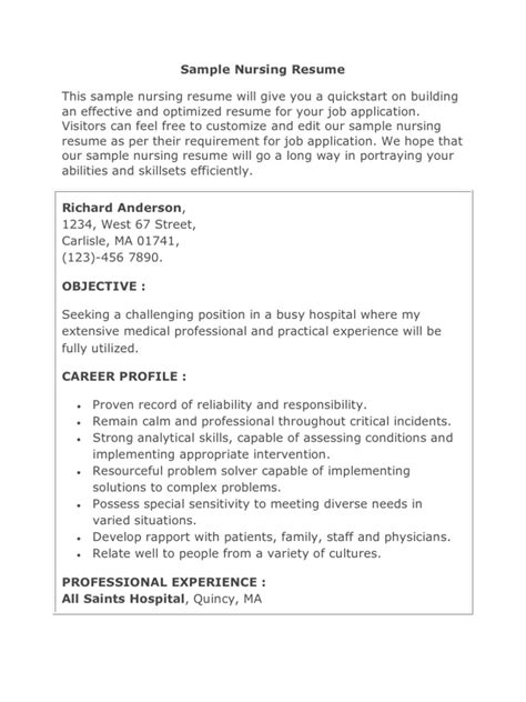 resume for nurses abroad 28 images resume format for