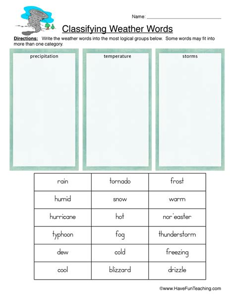 Classification Worksheet by Classification Worksheets Page 3 Of 5 Teaching