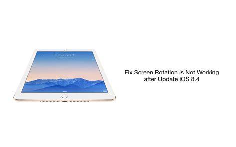 fix ipad air  screen rotation   working