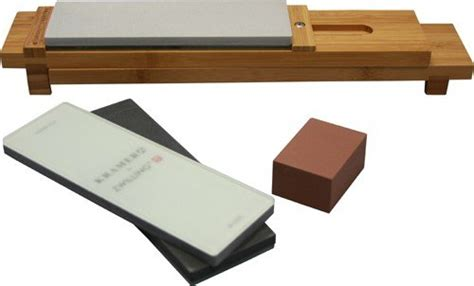 Sharpening Stones For Kitchen Knives Bob Kramer By Zwilling J A Henckels 6 Pc Glass Water Stone