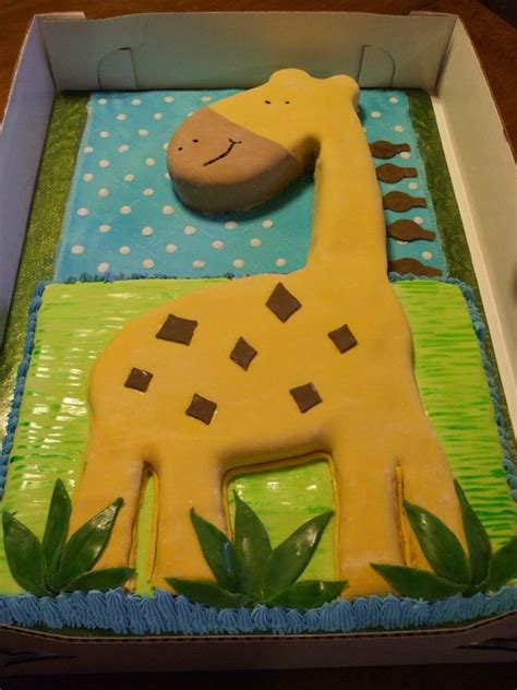 butter cream frosting baby shower giraffe cakes images boys baby shower carved  yellow
