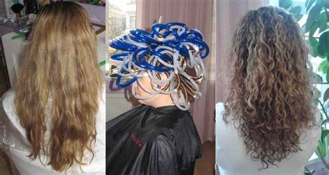 best salons to get a long spiral perm before and after perm from russian salon lookbook