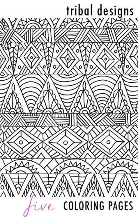 tribal pattern coloring pages tribal designs 5 coloring pages alisa burke