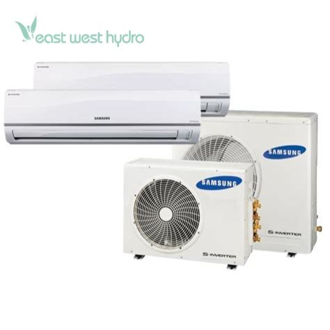 Ac Indoor Samsung samsung multi zone 24 000 btu mini split air conditioner system w dual 12 000 btu indoor