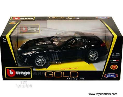 koenigsegg bburago bburago gold peugeot 907 v12 1 18 scale diecast model
