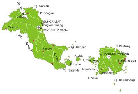 Peta Wisata Provinsi Kepulauan Bangka Belitung Kota Pangkalpinan H1051 sejarah qq webster