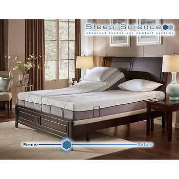 sleep science adjustable bed sleep science 10 quot memory foam split cal king mattress with