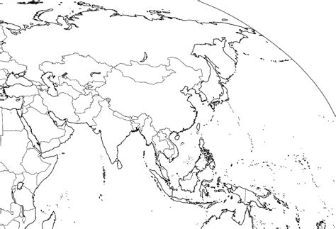 Outline Map Europe And Asia by Asia Outline Map Size