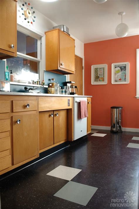 Mid Century Kitchen Cabinets by S Quot Economical Quot Retro Kitchen Remodel Featuring