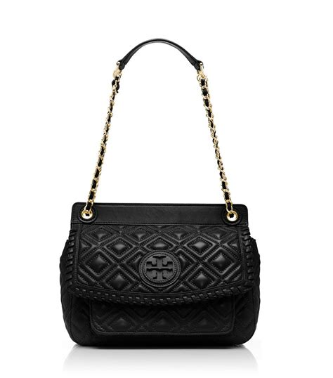 Burch Quilted Small Shoulder Bag Original lyst burch marion quilted small shoulder bag in black