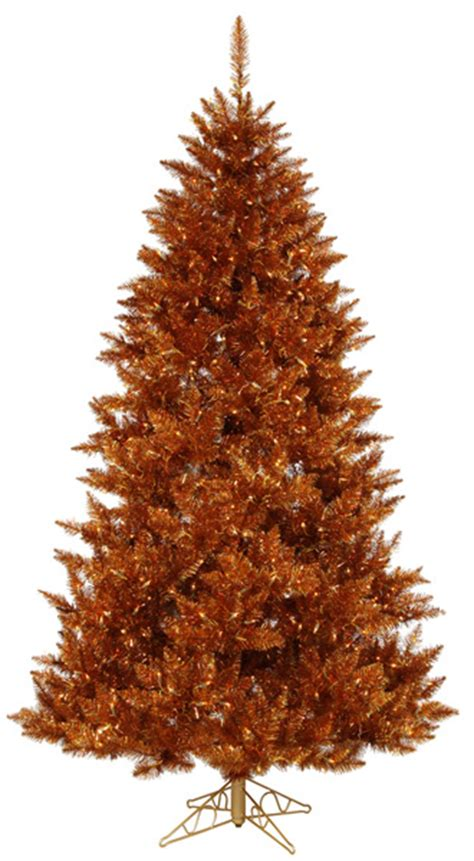 gold artificial christmas trees copper color artificial