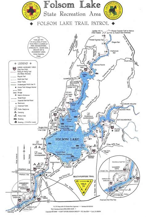 folsom ca map folsom lake trail map 95630 maps and lakes