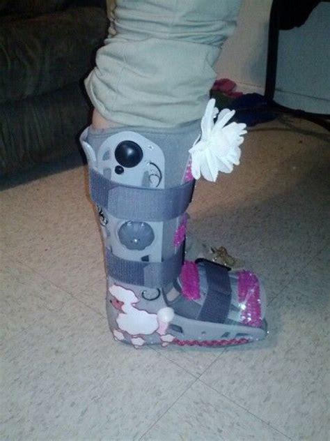 broken foot boot fancy boot broken foot cast