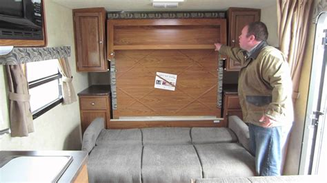 murphy bed travel trailer flagstaff micro lite rockwood mini lite murphy bed youtube