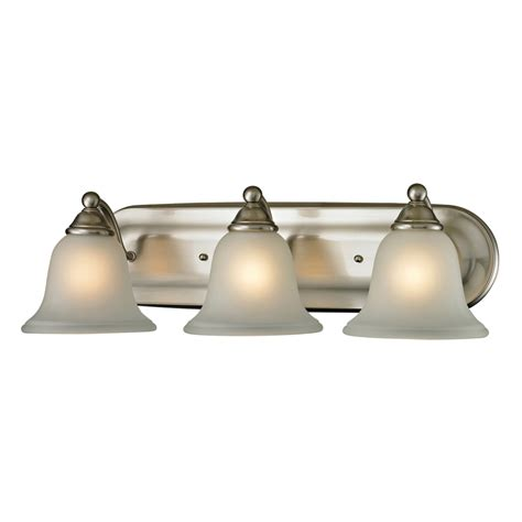 led bathroom vanity light shop westmore lighting 3 light wyndmoor brushed nickel led