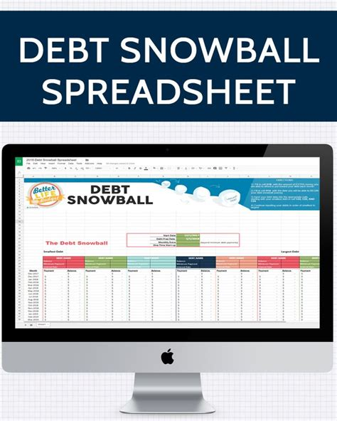 Snowball Calculator Spreadsheet by Best 25 Debt Snowball Spreadsheet Ideas On
