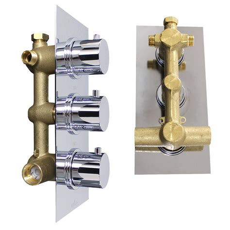 2 Way Thermostatic Shower Valve by Thermostatic 2 Way Shower Valve 3 Handles With