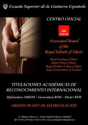 Calendario G Martell Escuela Superior De Guitarra