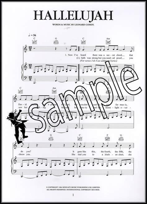 testo hallelujah rufus wainwright piano hallelujah leonard cohen piano sheet