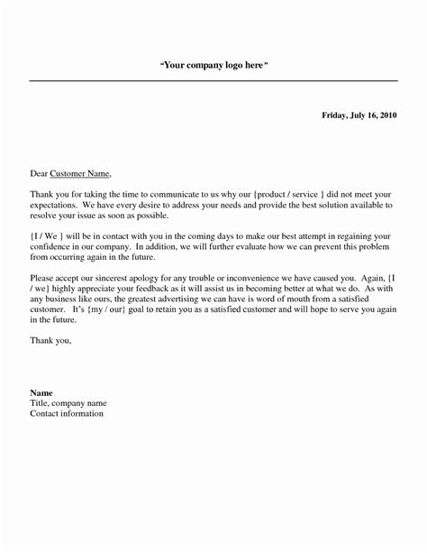 Writing A Business Letter Of Regret sle apology letters creative 49 sles of