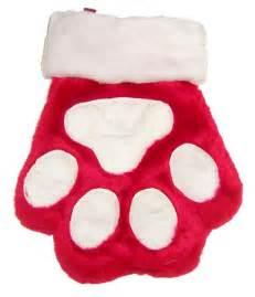 Kong paw dog christmas stocking