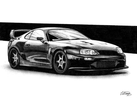 toyota supra drawing toyota supra drawing car by ivanovsemyonrussia on
