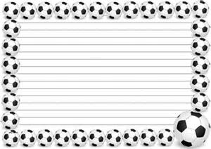 Football Writing Paper Football 2014 Themed Lined Papers And Pageborders