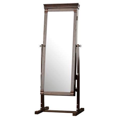 cheval jewelry armoire with mirror charlton home aldridge cheval jewelry armoire with mirror