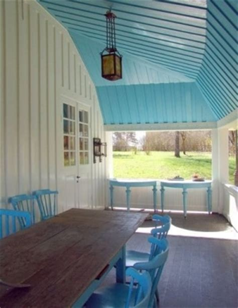 blue paint interior porch roof turquoise or aqua