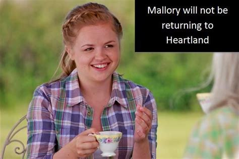 tv shows that will not be returning in 2017 mallory will not be returning heartland spoilers