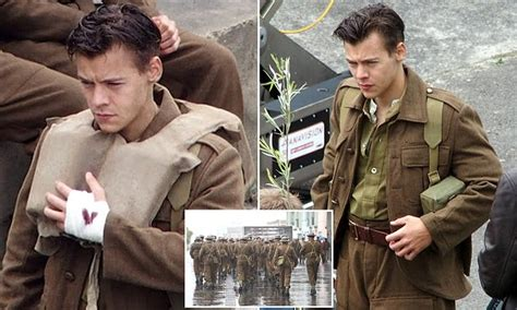 british mens haircuts in 1940 harry styles shows off his new 1940s style military cut on