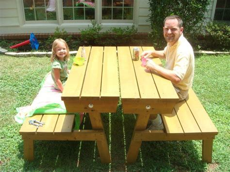 ana white picnic table bench convertable picnic table do it yourself home projects
