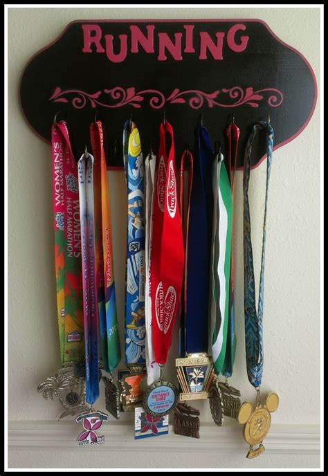 Runners Medal Display Rack diy running medal display rack defining