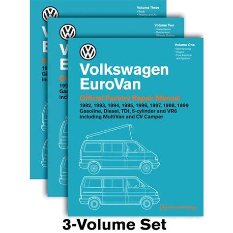 Volkswagen Eurovan T4 1992 1999 Service Manual Three